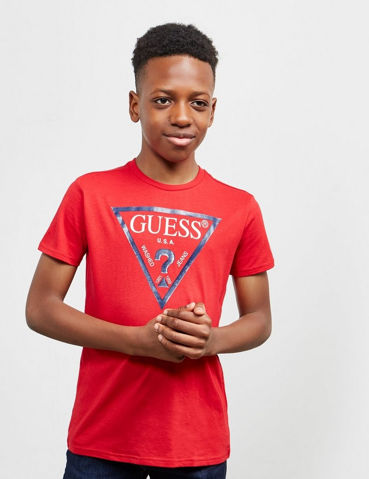 Guess Triangle Logo Short Sleeve T-Shirt