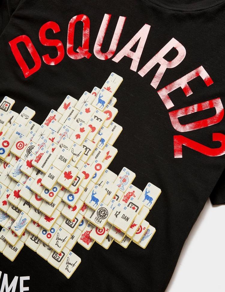 Dsquared2 Mahjong Leaf Short Sleeve T-Shirt