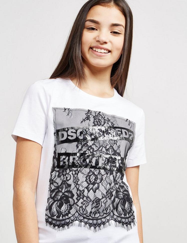 Dsquared2 Lace Logo Short Sleeve T-Shirt