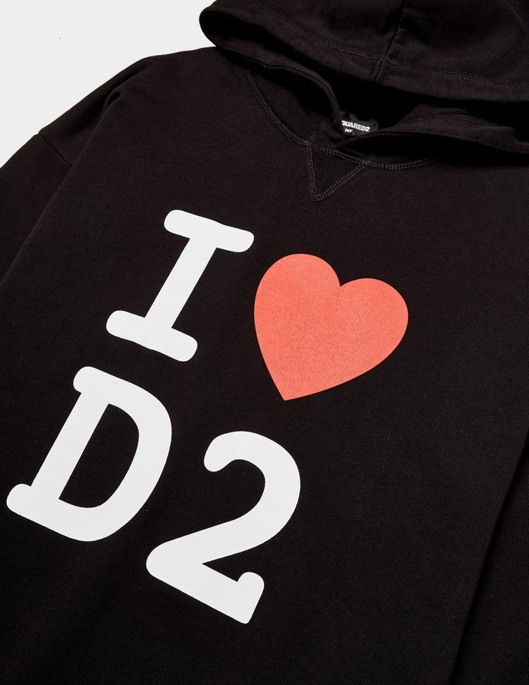 Dsquared2 Heart Hoodie Dress