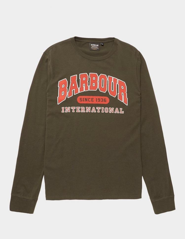 Barbour International College Logo Long Sleeve T-Shirt