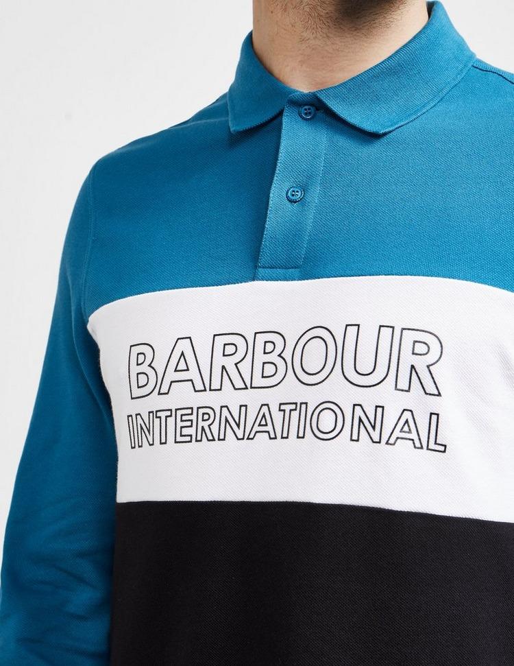 Barbour International Panel Long Sleeve Polo Shirt