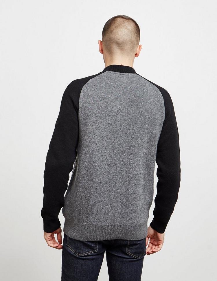 Barbour International Plated Fleece Bomber Jacket