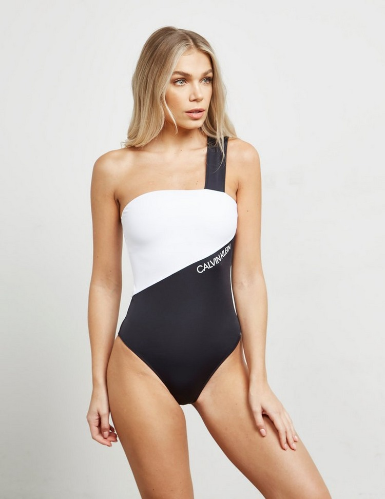 Calvin Klein Swim One Shoulder Swimming Costume
