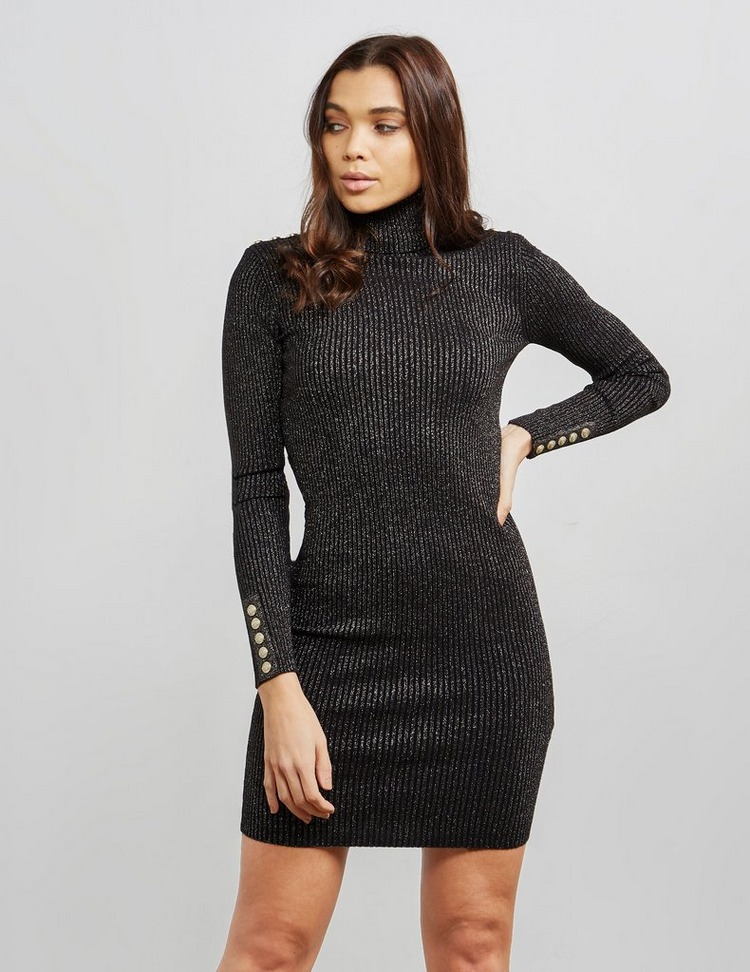 Holland Cooper Roll Neck Glitter Jumper Dress