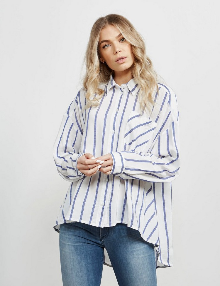 Armani Exchange Pinstripe Button Down Long Sleeve Shirt