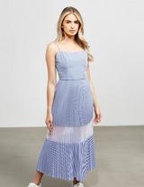 Armani Exchange Stripe Pleated Dress