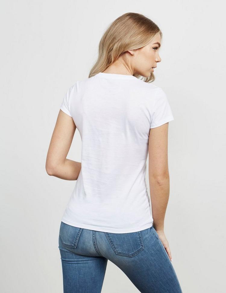 Armani Exchange Sequin Text Logo Short Sleeve T-Shirt