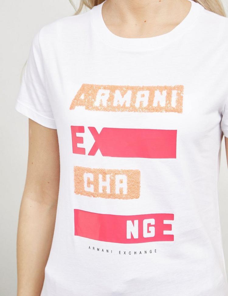 Armani Exchange Logo Stripe Short Sleeve T-Shirt