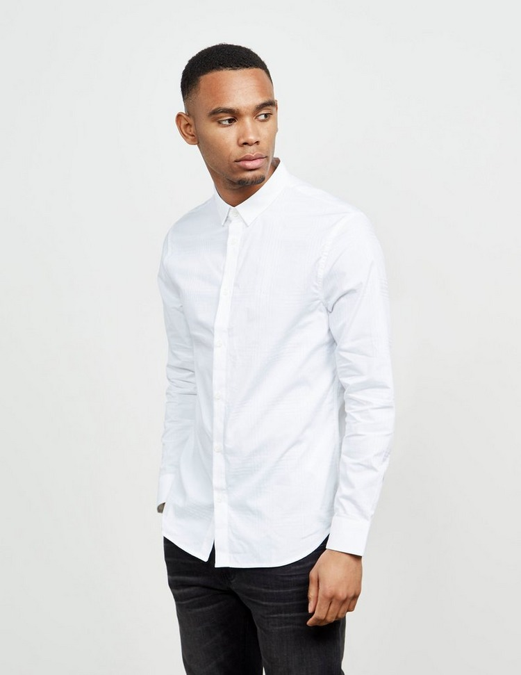 Armani Exchange Tonal Check Long Sleeve Shirt