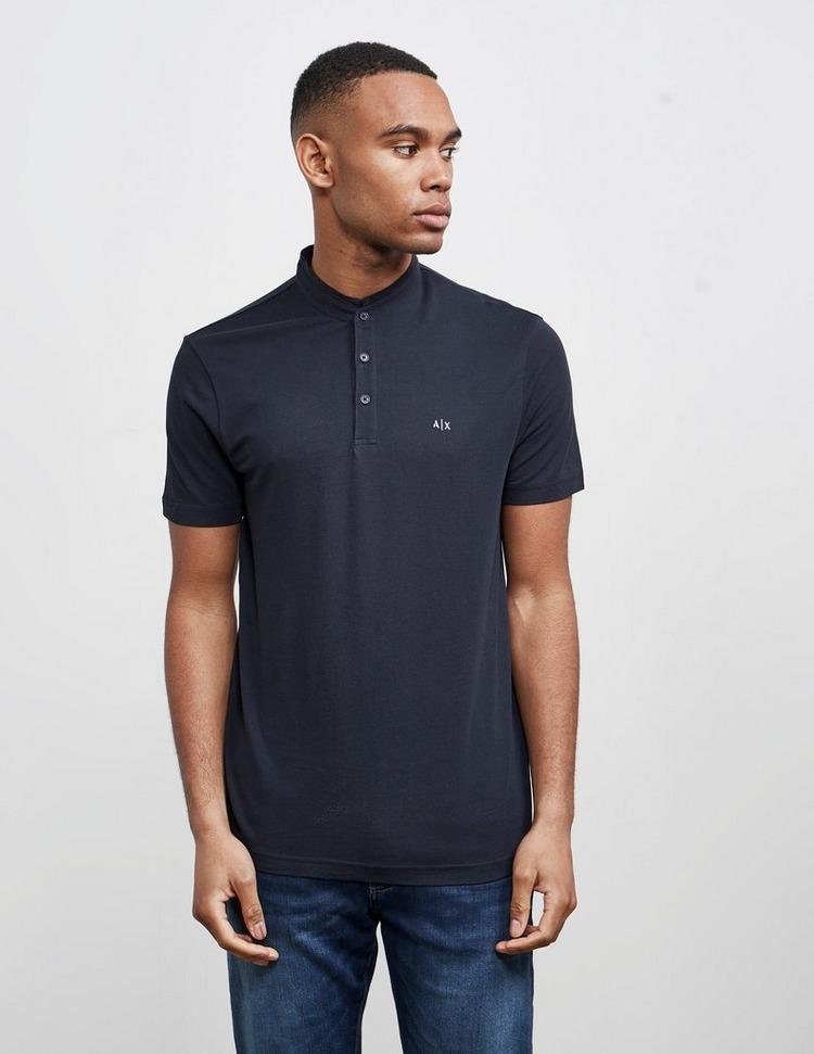 Armani Exchange Pique Henley Short Sleeve T-Shirt