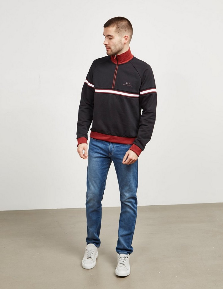 Armani Exchange Mid Stripe Half Zip Sweatshirt