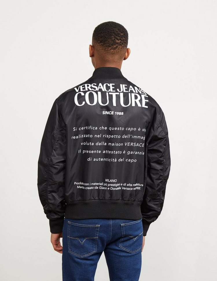 Versace Jeans Couture Chain Reverse Bomber Jacket