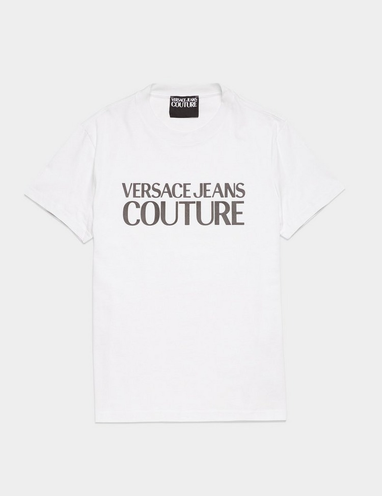 Versace Jeans Couture Rubber Large Logo Short Sleeve T-Shirt