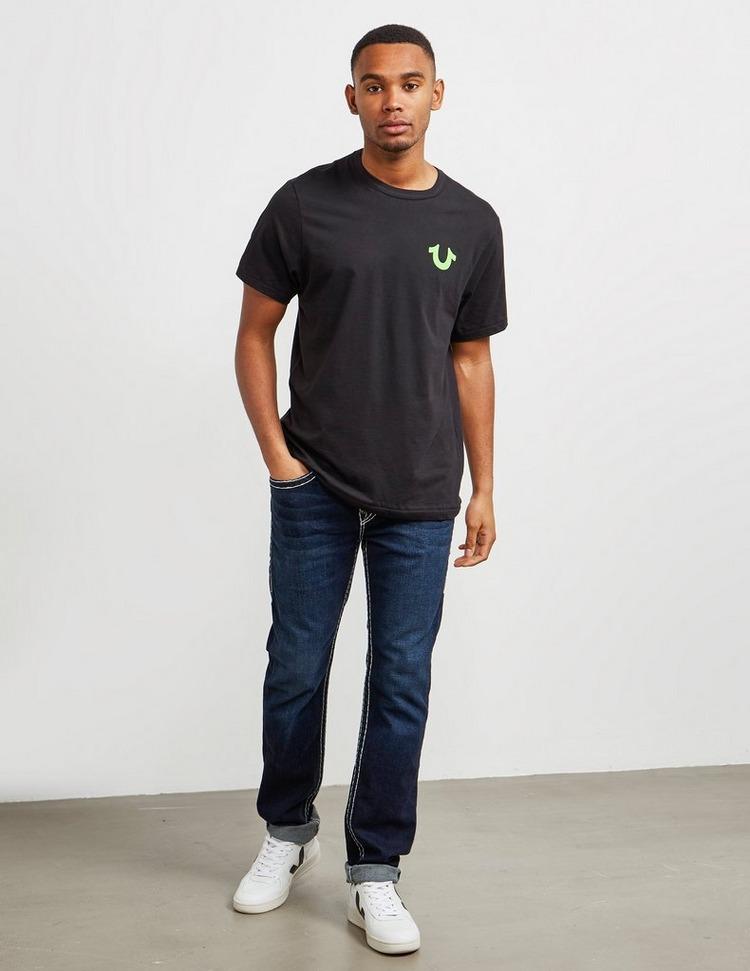 True Religion Neon Buddah Short Sleeve T-Shirt