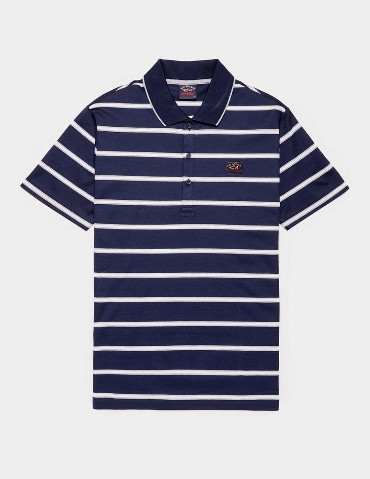 Paul and Shark Fine Stripe Short Sleeve Polo Shirt