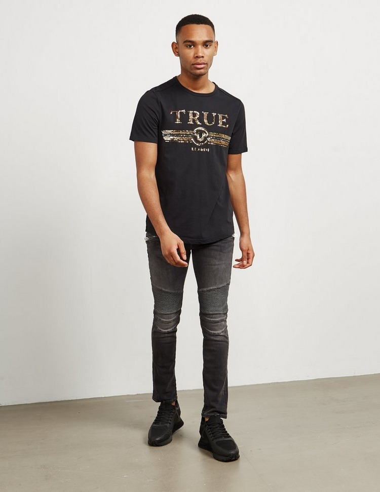 True Religion Rocco Zip Biker Jeans