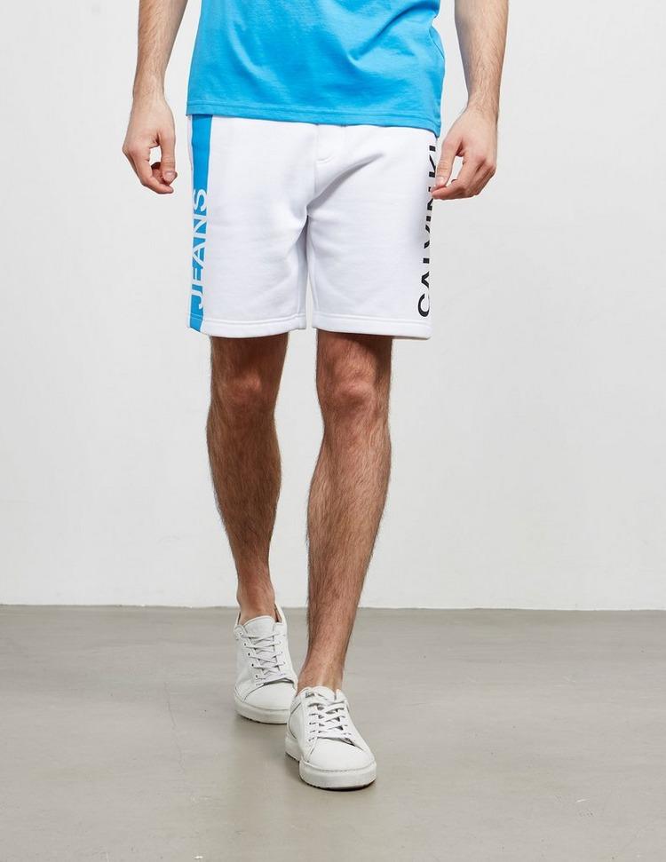 Calvin Klein Jeans Stripe Institutional Fleece Shorts