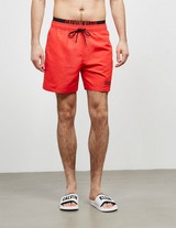 Calvin Klein Swim Double Waistband Swim Shorts