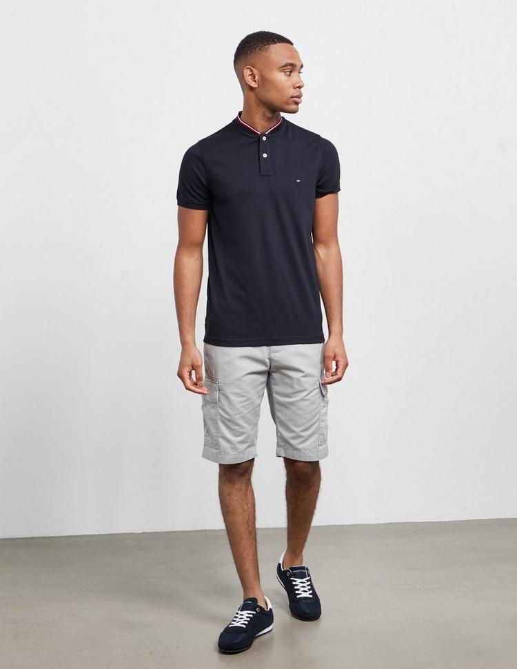 Tommy Hilfiger Bomber Collar Short Sleeve Polo Shirt