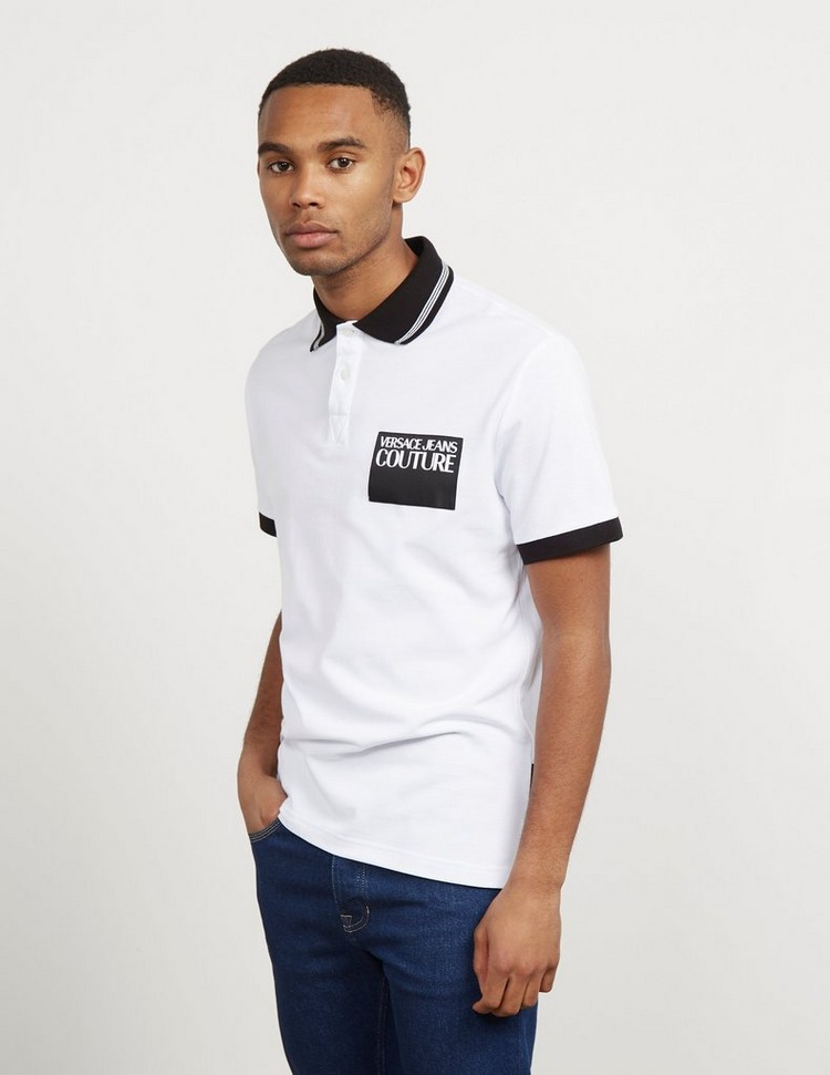 Versace Jeans Couture Corporate Logo Short Sleeve Polo Shirt