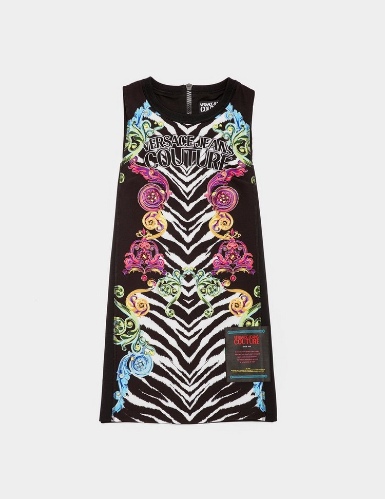 Versace Jeans Couture Tiger Print Baroque Dress