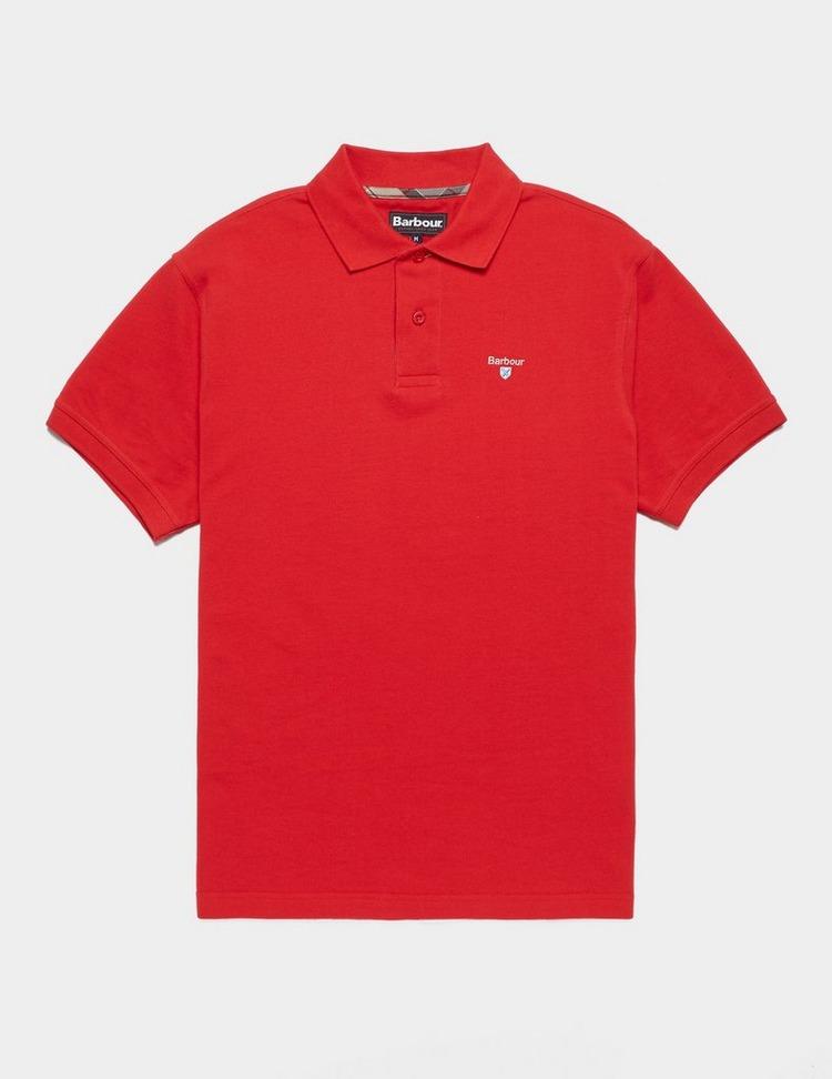 Barbour Tartan Placket Short Sleeve Polo Shirt