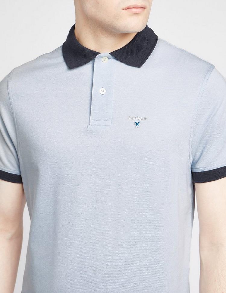 Barbour Contrast Collar Short Sleeve Polo Shirt