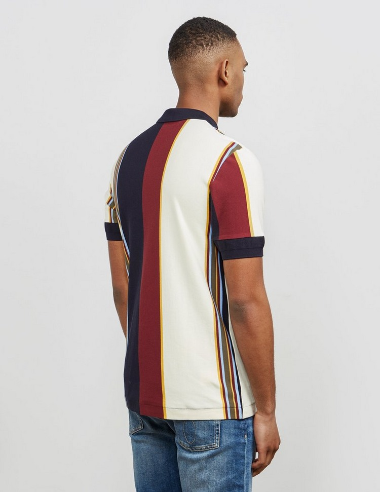 Fred Perry Vertical Stripe Short Sleeve Polo Shirt