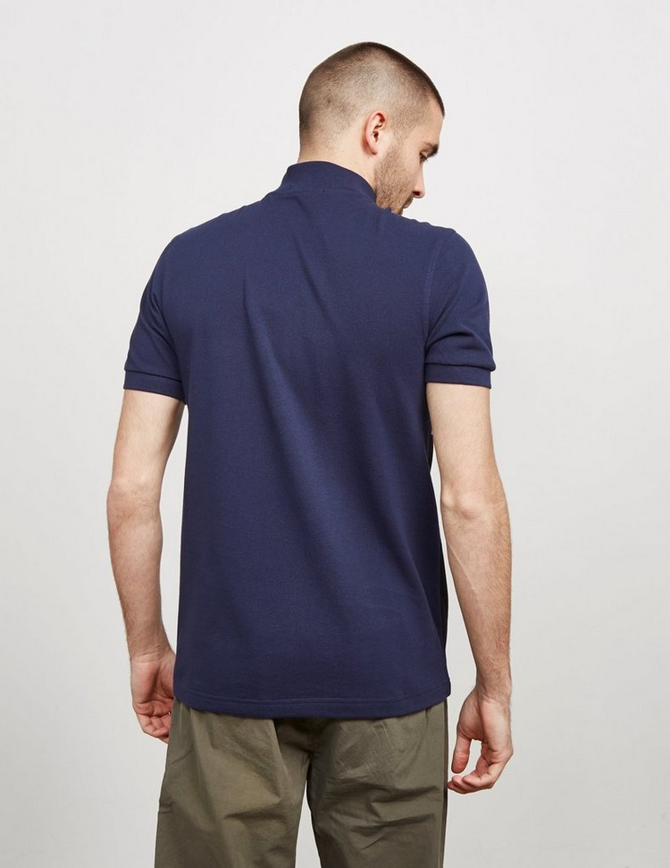 Fred Perry Embroidered Zip Neck Short Sleeve Polo Shirt