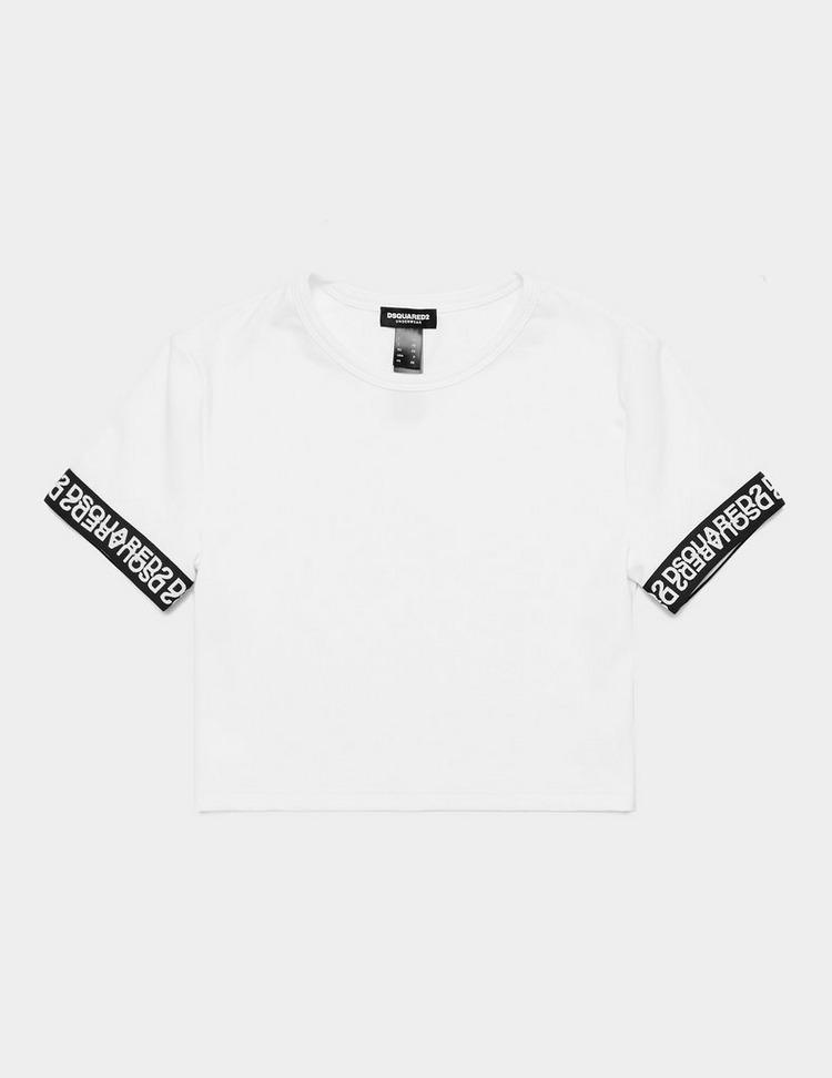 Dsquared2 Tape Short Sleeve Crop T-Shirt