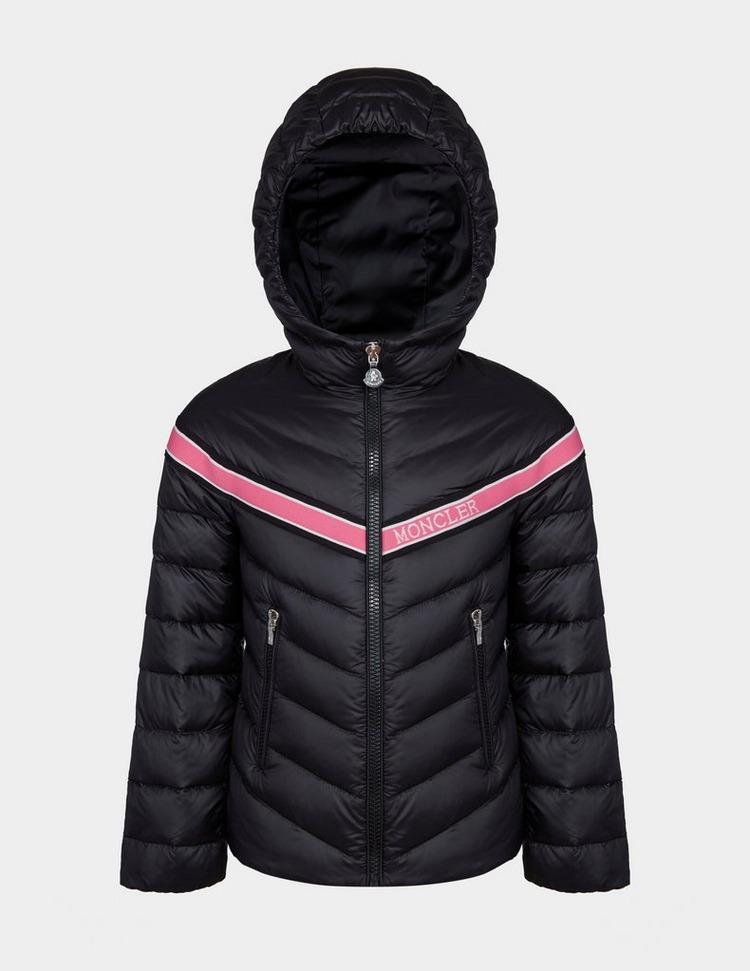 Moncler Girls Padded Stripe Jacket