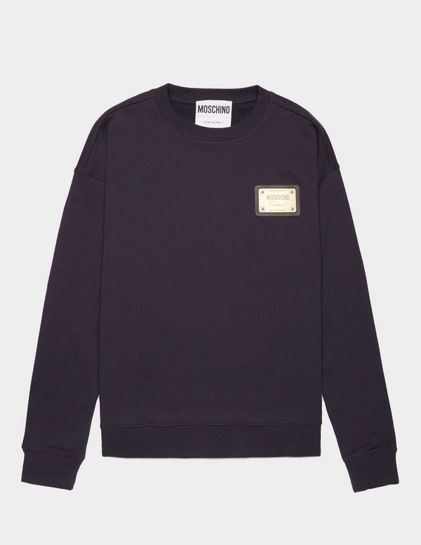 Moschino Plaque Sweatshirt