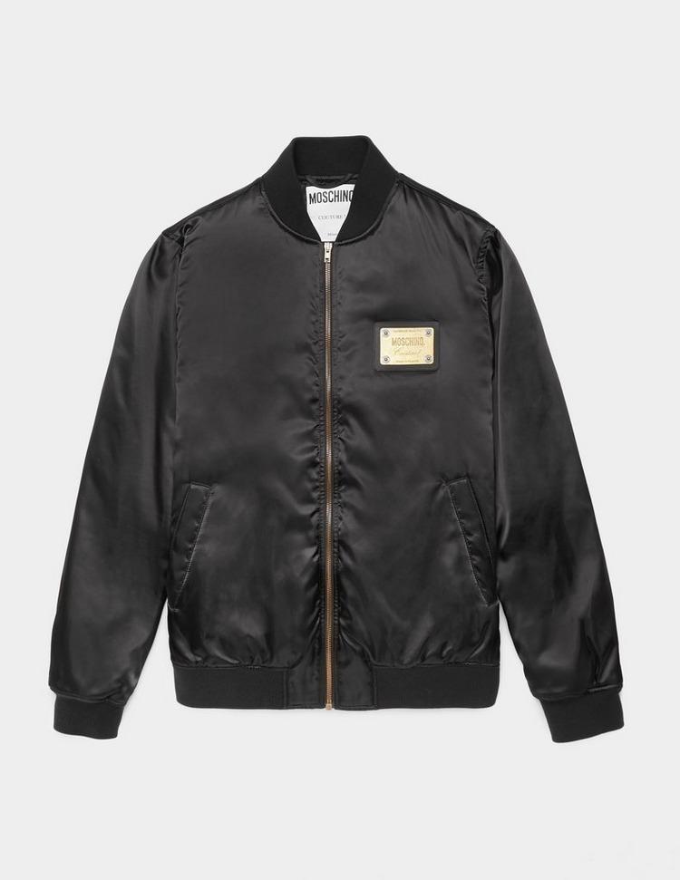 Moschino Plaque Bomber Jacket