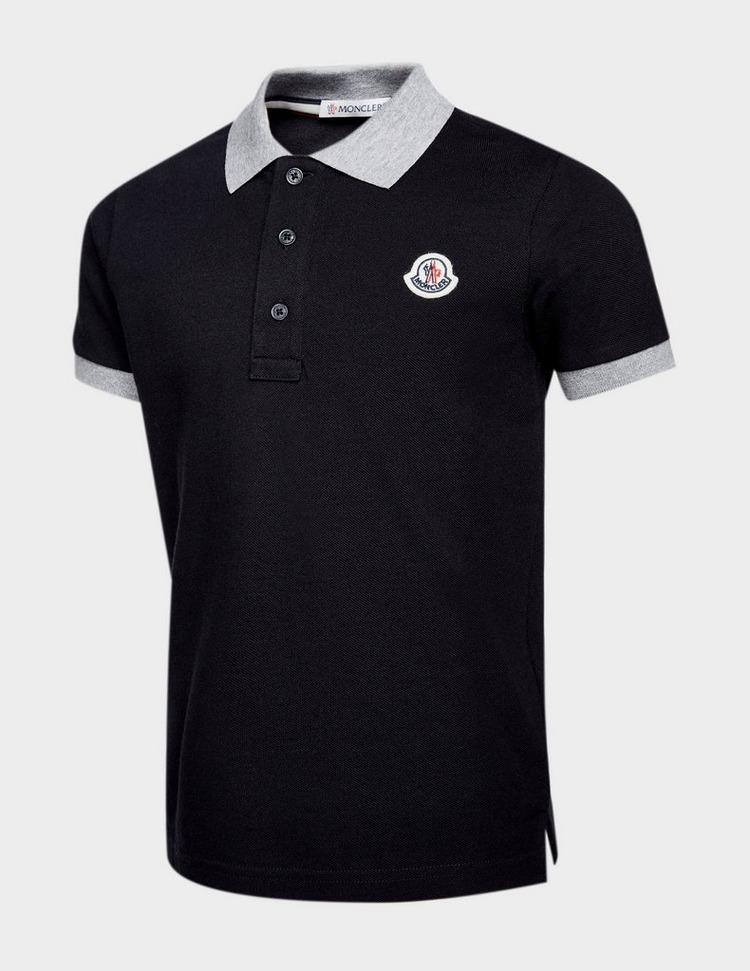 Moncler Boys Contrast Collar Short Sleeve Polo Shirt