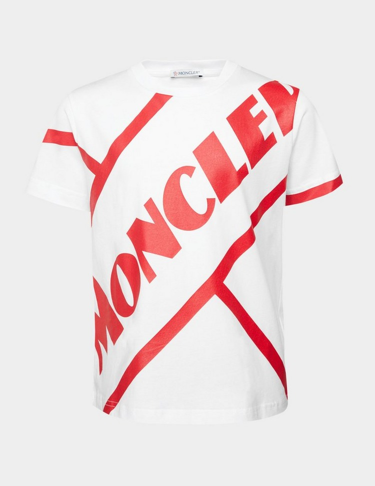 Moncler Boys Diagonal Logo Short Sleeve T-Shirt