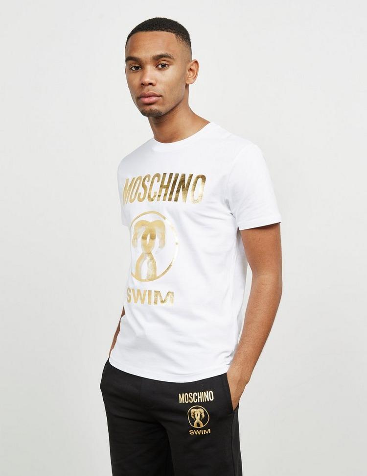 Moschino Swim Flamingo Short Sleeve T-Shirt