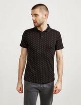 Armani Exchange Polka Dot Short Sleeve Polo Shirt