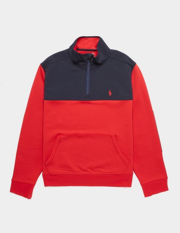 Polo Ralph Lauren Mix Media Half Zip Sweatshirt