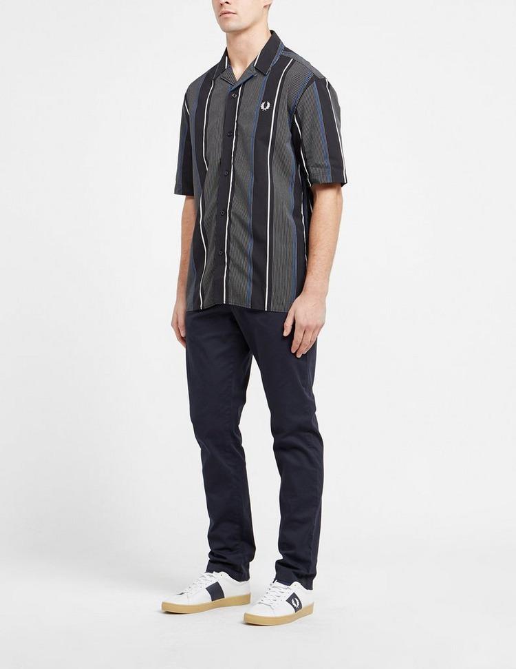 Fred Perry Vertical Stripe Short Sleeve Revere Shirt