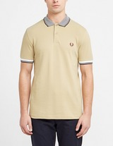 Fred Perry Stripe Collar Short Sleeve Polo Shirt