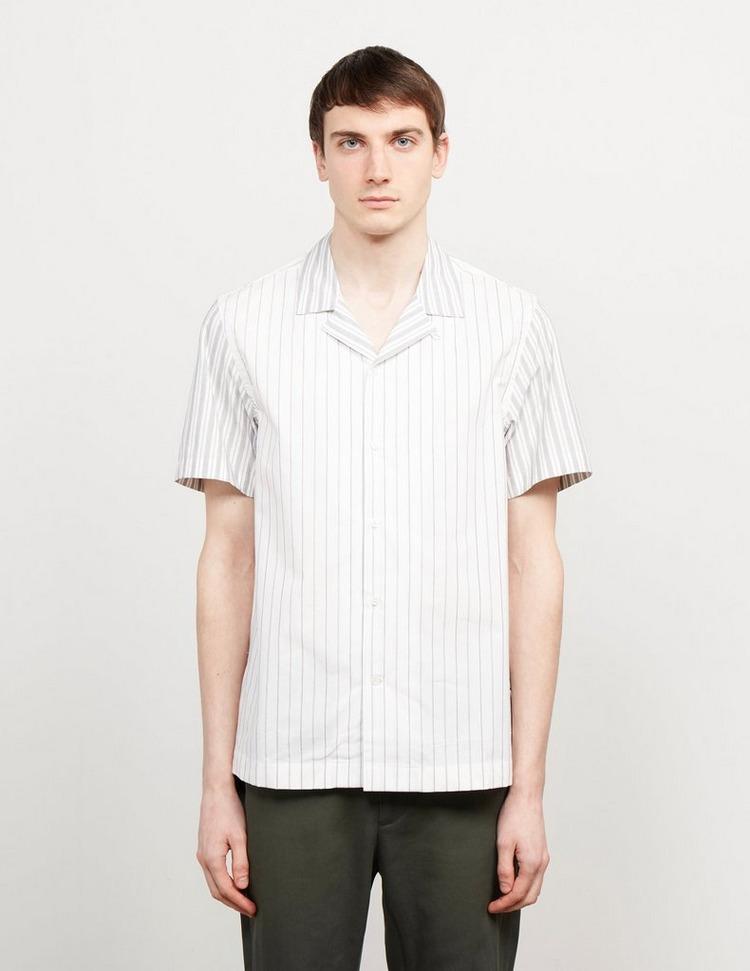 Wood Wood Brandon Stripe Short Sleeve Shirt