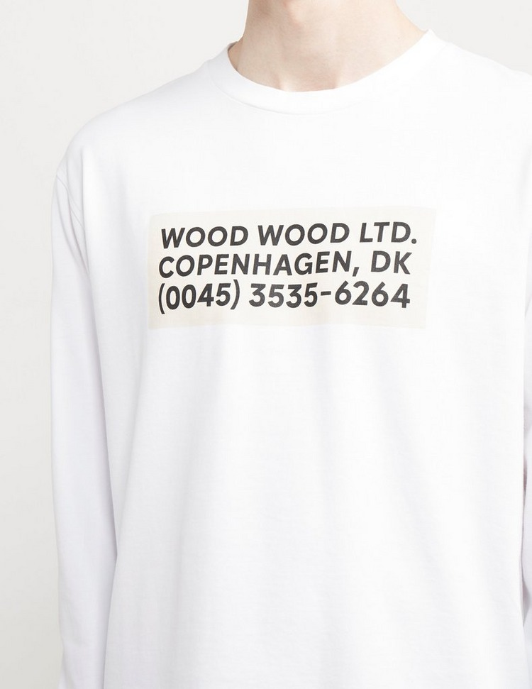 Wood Wood Anakin Info Long Sleeve T-Shirt