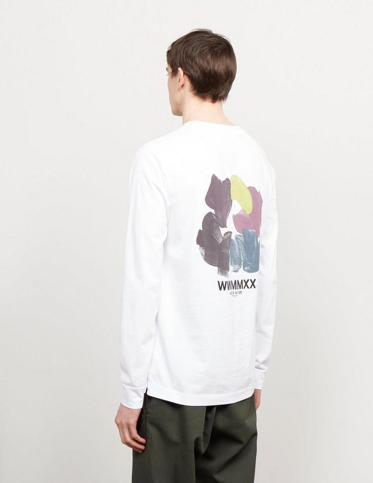 Wood Wood Han Back Long Sleeve T-Shirt