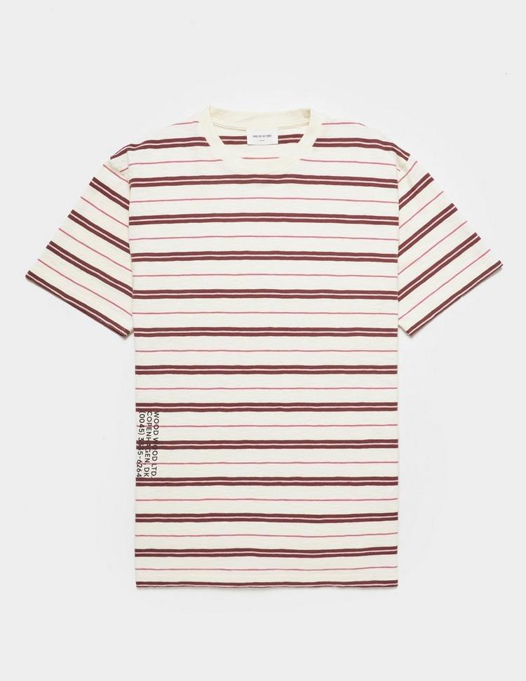 Wood Wood Slater Stripe Short Sleeve T-Shirt