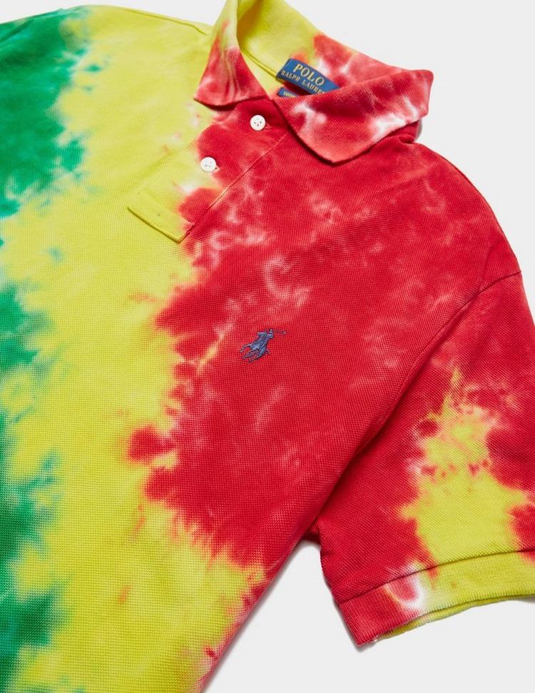 Polo Ralph Lauren Tie Dye Mesh Short Sleeve Polo Shirt