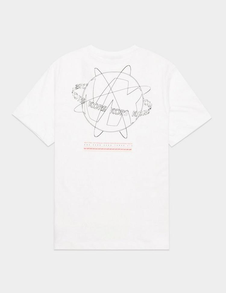 Michael Kors Globe Back Print Short Sleeve T-Shirt