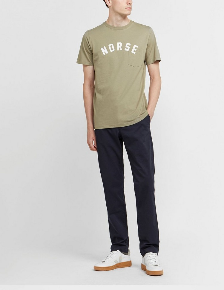Norse Projects Neils Curve Logo Short Sleeve T-Shirt