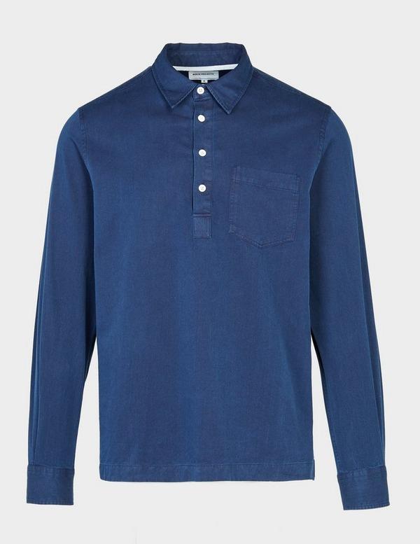 Norse Projects Oscar Long Sleece Half Shirt