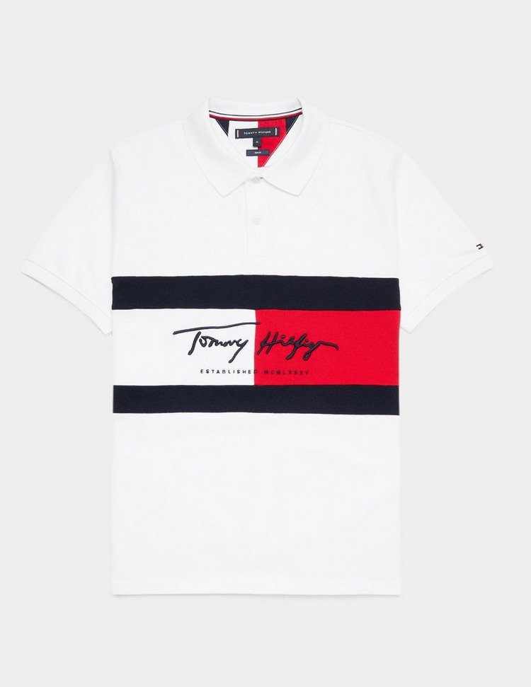 Tommy Hilfiger Signature Flag Short Sleeve Polo Shirt